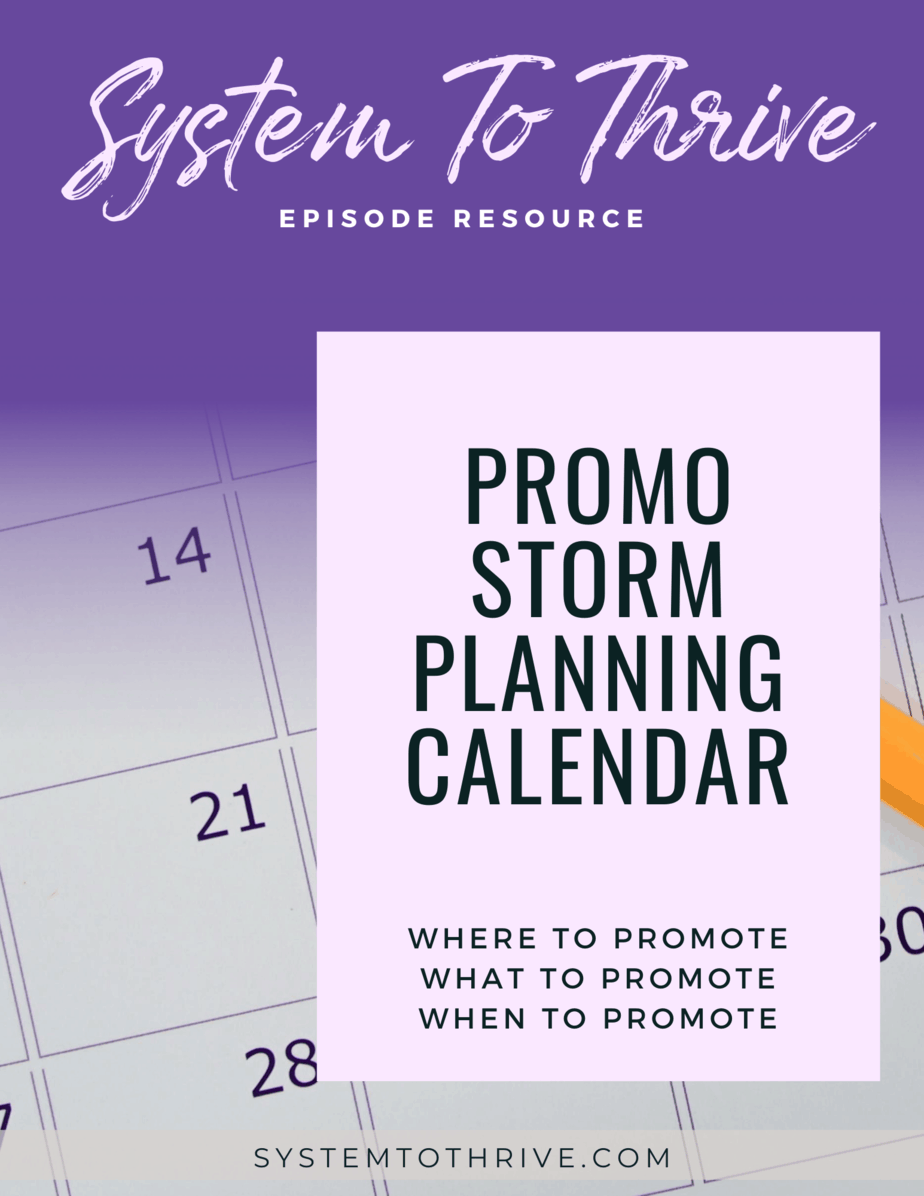 cover for the promo storm planning calendar