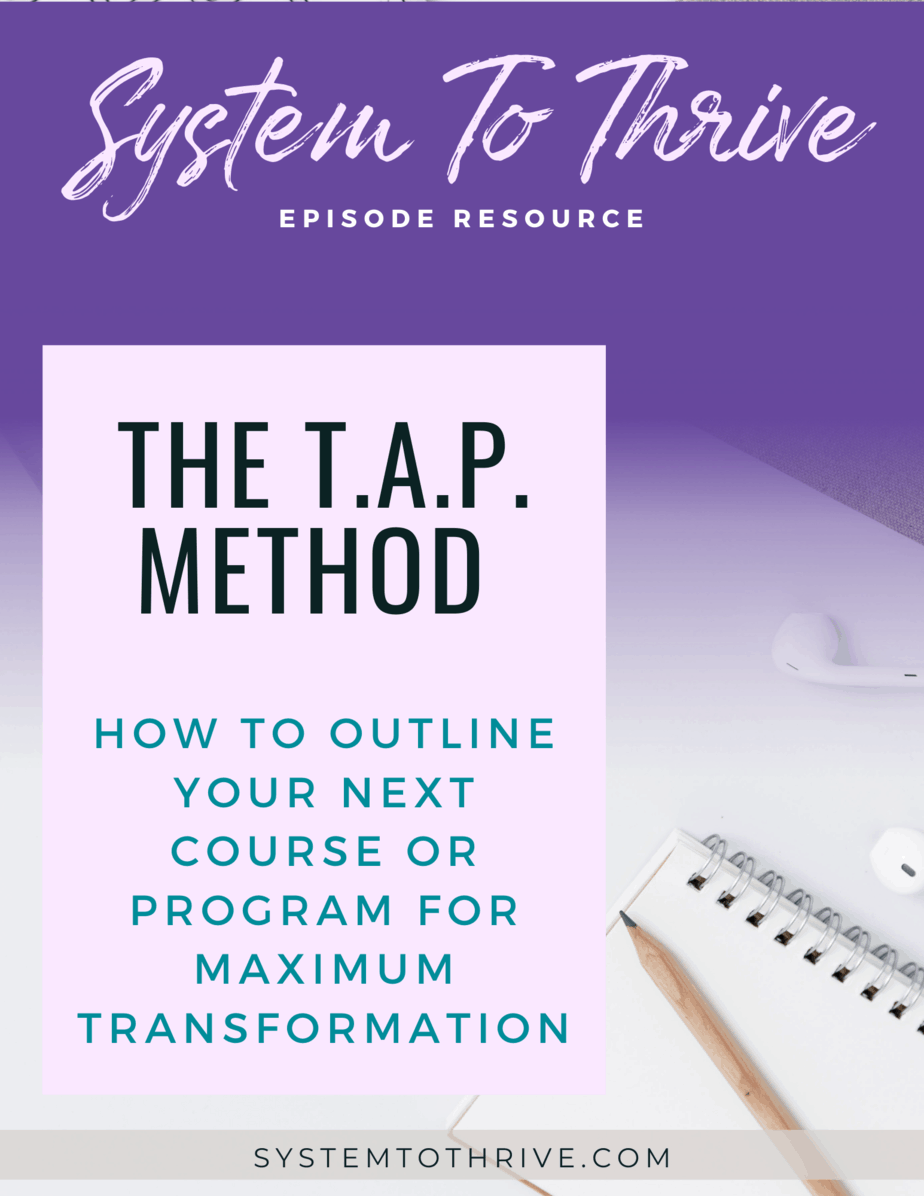 The TAP method workbook cover